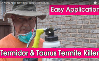 applying termidor and taurus termiticide