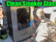 cleaning smoker glass