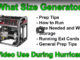 what size generator for home use