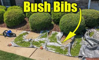 bush trimming drop cloth