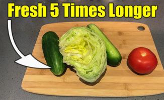 keep veggies fresh in fridge