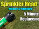 replace inground sprinkler head