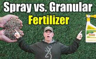 spray vs. granular fertilizers