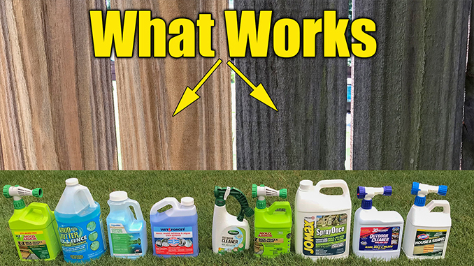 Fence And Deck Cleaners Remove Mold And Algae Around The House