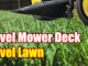 leveling your mower deck