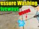pressure washing concrete driveway