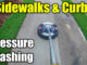 pressure washing concrete sidewalks
