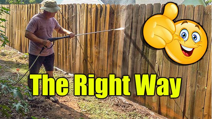 Pressure Washing Fence Around The House