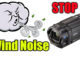 stop video camera wind noise