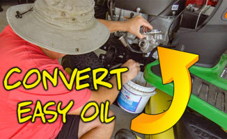 convert easy oil change john deere