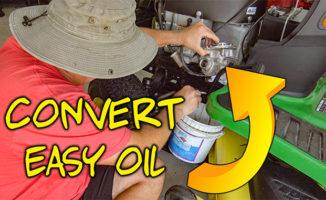 convert easy oil change john deere