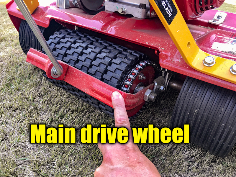 reel mower drive wheel
