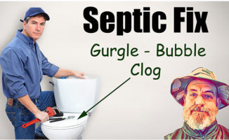 clogged septic tank