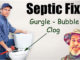 clogged septic tank