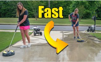 pressure washing concrete driveways