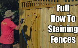 how to stain fences