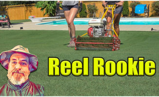REEL MOWING BERMUDA LAWN