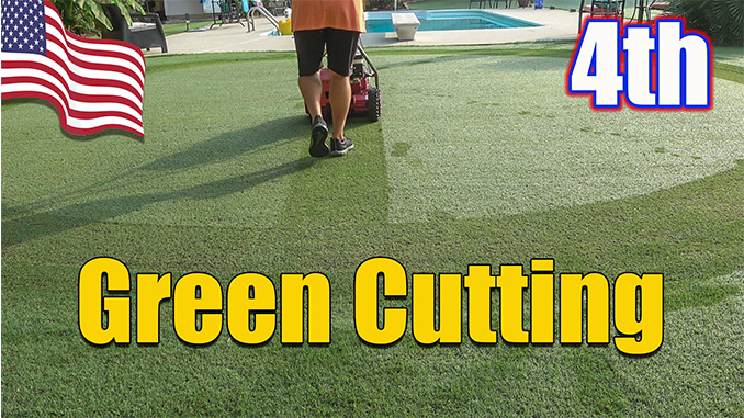 putting green cutting