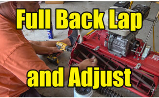 back lapping reel mower