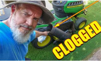 clogged riding mower
