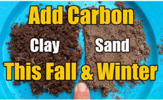 adding carbon to soil