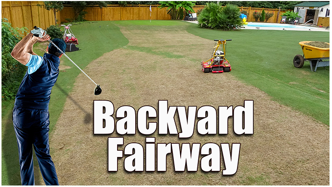 backyard golf fairway