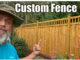 custom built wood fence