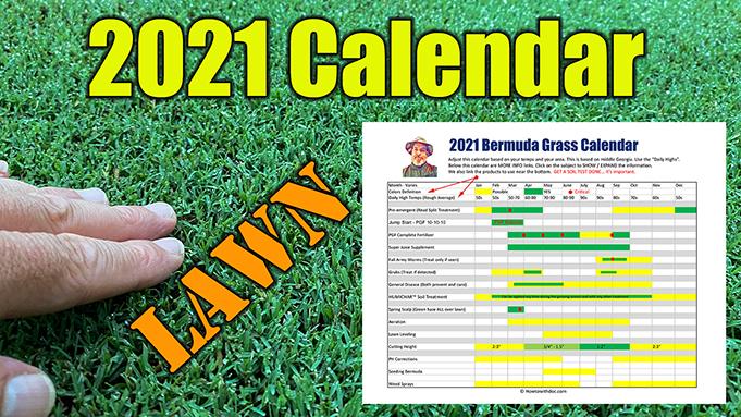 Bermuda Lawn Calendar 2021