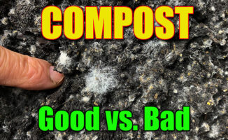 making compost piles