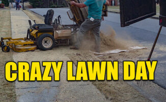 spring lawn care before the rain
