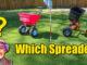 tow behind spreader vs push spreader
