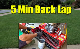 reel mower backlap and mow