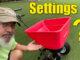 lawn spreader settings