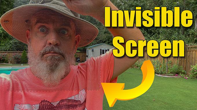 invisible window screen