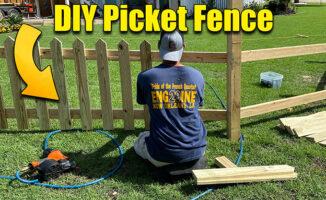 wood picket dence diy